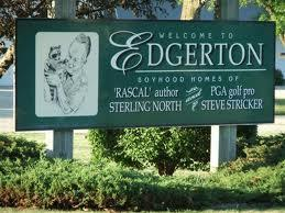 Welcome to Edgerton sign